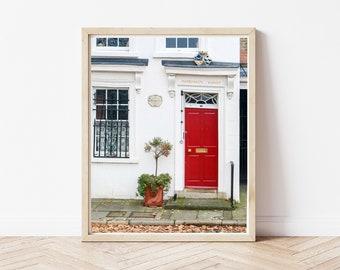 Cardinal's Wharf Print / London Door Art Print / London Fine Art Print / England Door Photo / UK Autumn Art / London in the Fall Art Print
