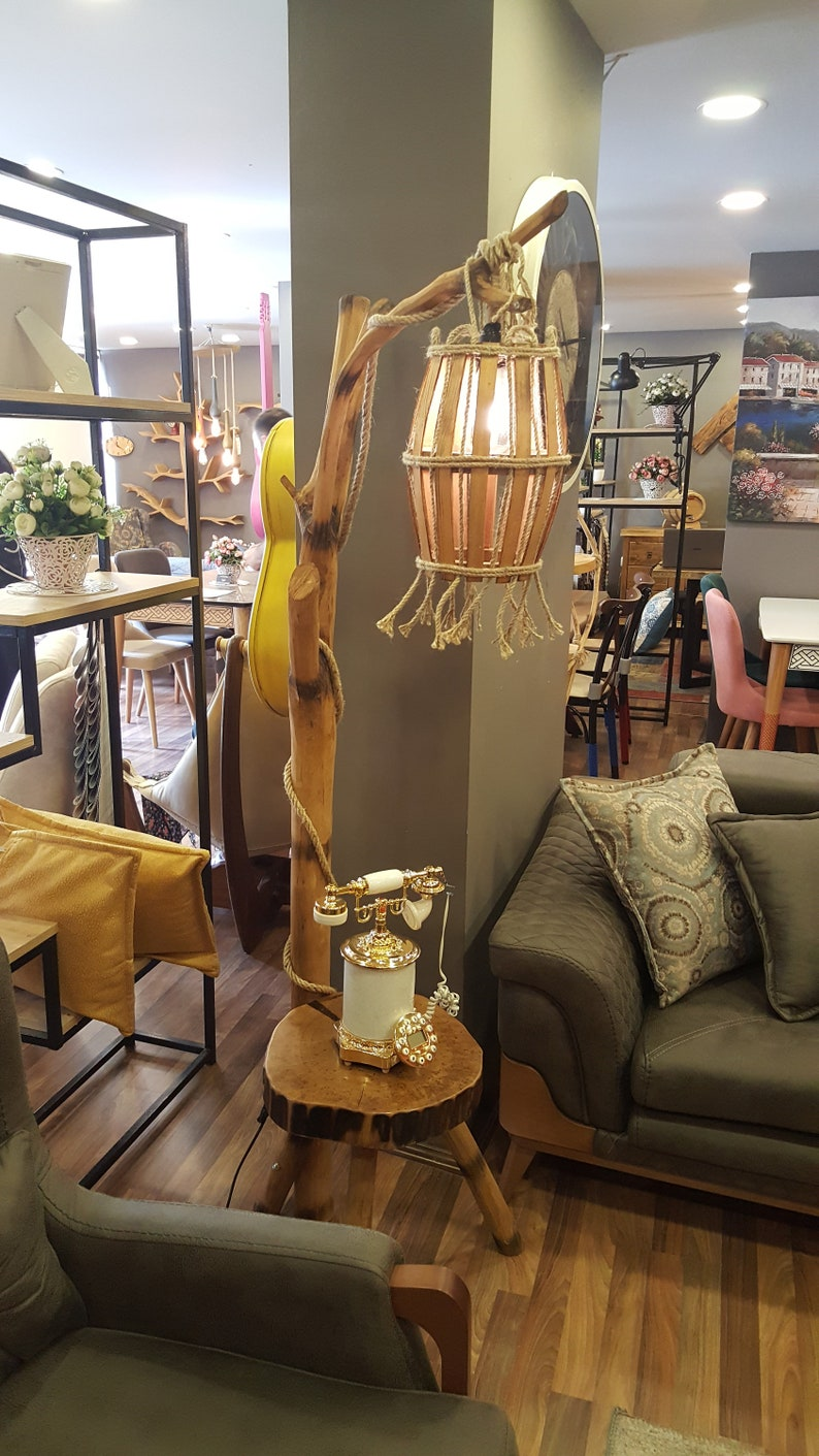 Accent Floor Lamp Natural Wood Lamp Handmade Lamp Natural Wood Floor Lamp Wooden Lamp Natural Light Wood Arc Floor Lamp,Floor Lighting