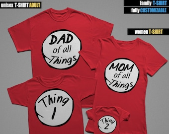 96fe0555 Custom Family Thing 1 Thing 2, Family T-Shirts, Mommy Daddy Baby Kid family  shirts, Matching Family Shirts, Family tshirts, Family Outfit