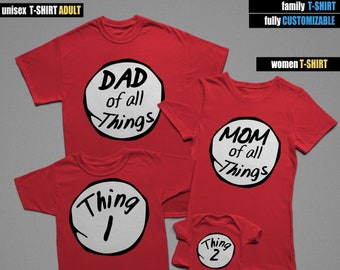 a4cc2951 Custom Family Thing 1 Thing 2, Family T-Shirts, Mommy Daddy Baby Kid family  shirts, Matching Family Shirts, Family tshirts, Family Outfit