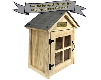 The Cozy (20x14x24) with FREE Shipping and FREE Plaque from the Family of the Founder of the Little Free Library Movement