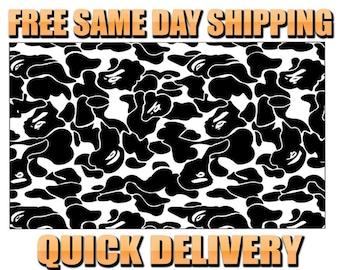 67cc66d0a89f Bape Camo Pattern Vinyl Painting Stencil  HIGH QUALITY  Vinyl Shoe Custom  Stencil