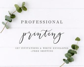Professional printing, Premium printing, Digital Printed invitations, Professionally printed invitations, Invitations and envelopes