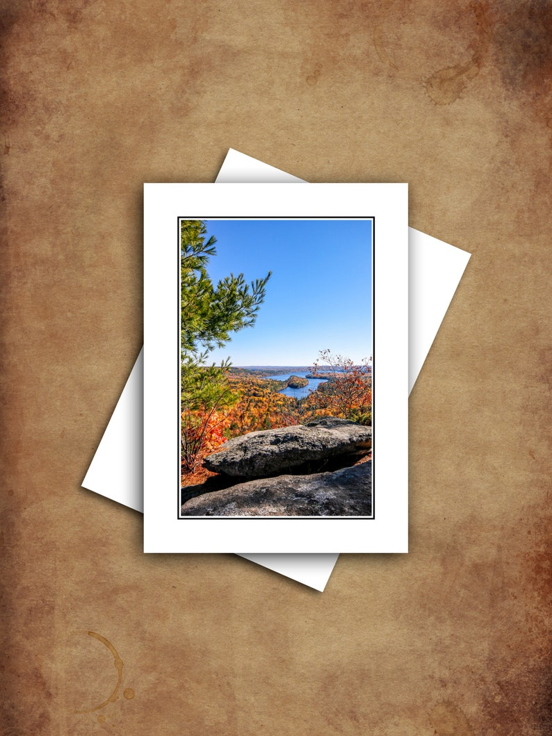Fall in Maine Landscape Photography Greeting Cards Set with image 0