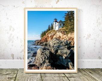 Acadia National Park, Bass Harbor Lighthouse Prints,Maine Photography, Wall Art