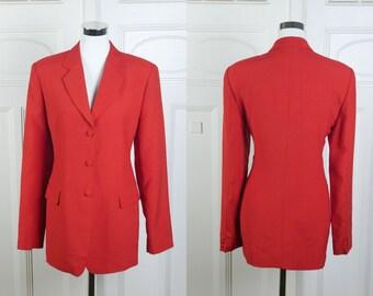 Beautiful Yellow and Red TARTAN Jacket Pure SILK Bernard Zins Paris ALBANY Size 40 Mustard Blazer Uk 12  Us 10 Check 90s