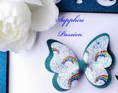 Butterfly Pinch Bow Hair Bow Suede Bow Glitter Bow Faux Leather Bow Rainbow Bow
