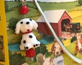 Dalmatian Dog Beaded Bookmark