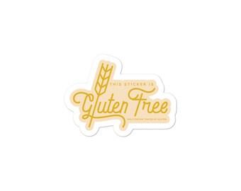 Gluten free sticker | Etsy