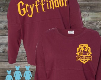 90c3cb5a Harry Potter Inspired Gryffindor Jersey | Harry Potter House Shirt |  Hogwarts House Shirt | Gryffindor Inspired Shirt