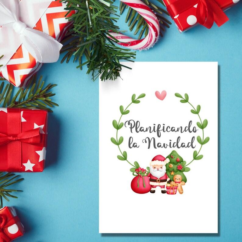 Planificadores Navidad A4 Regalos menús calendarios image 1