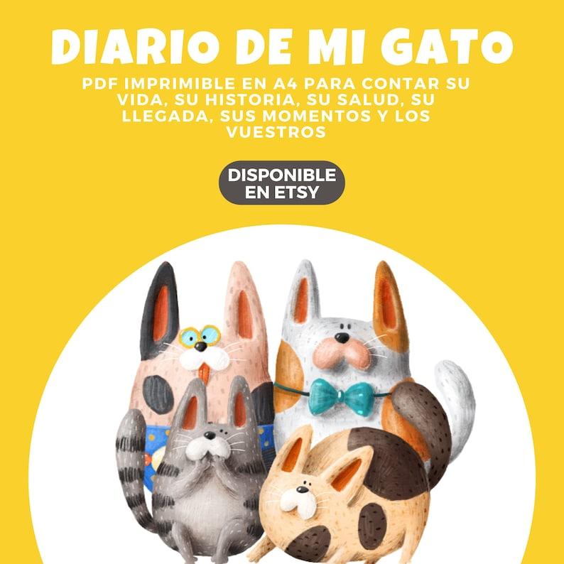 Diario de mi gato  Mascotas  Imprimir  PDF  A4  image 1