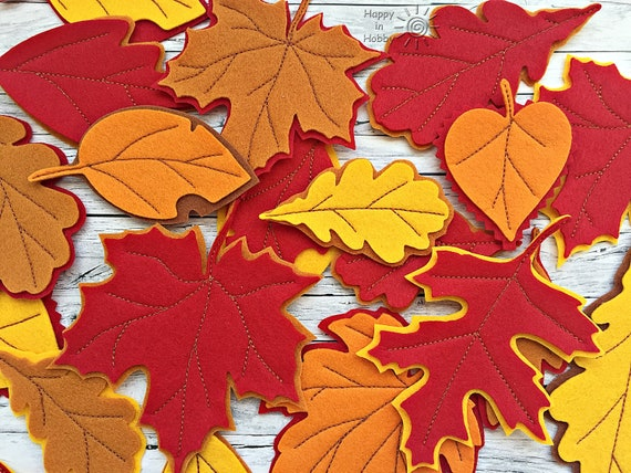 48 Sets Fall Leaf Ornaments Decorations DIY Hanging Fall Leaf Craft Kit  Assorted Foam Autumn Leaf Shapes With Pom-Poms Pipe Cleaners Googly Eyes  For Kids Crafts Fall Thanksgiving Halloween Decoration Craft Kits