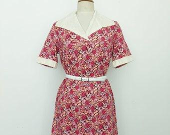 40s / 50s floral cotton dress