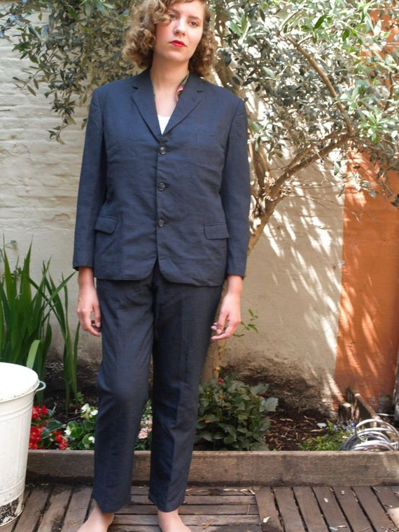 50s navy suit