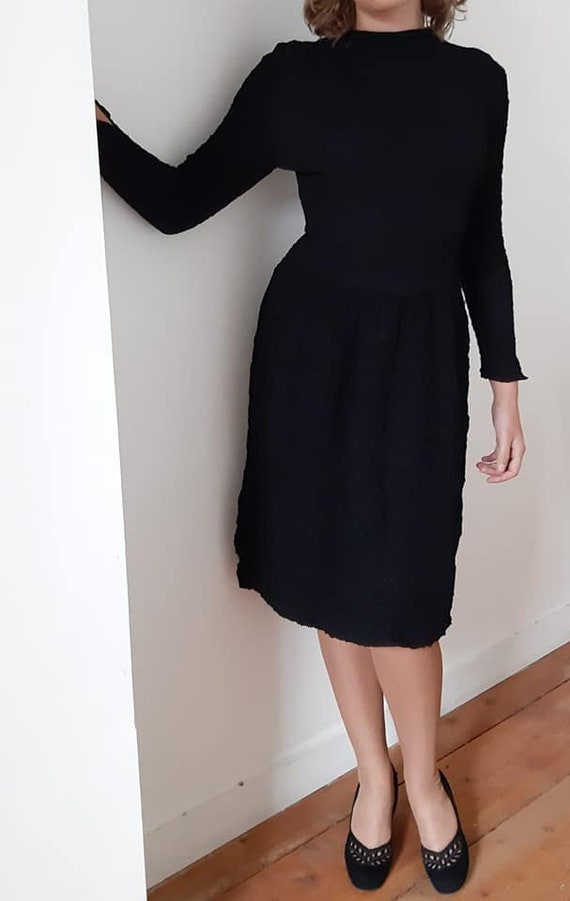 40s black halloween dress
