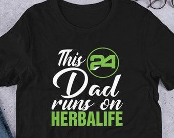 007eed2f This Dad Runs on Herbalife shirt , Men Shirt , Short-Sleeve T-Shirt