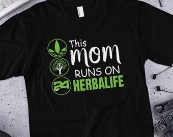 ac5a35b0 This Mom Runs on Herbalife shirt , Women Shirt , Short-Sleeve T-Shirt