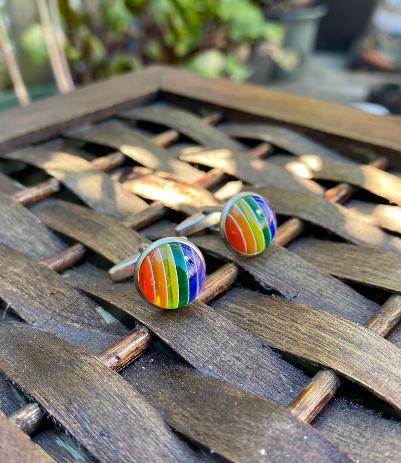 Rainbow Cuff links