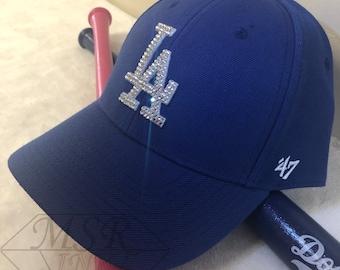 da7c26fa Los Angeles Dodgers-47 Bling- Blue Hat Made with SWAROVSKI® Crystals