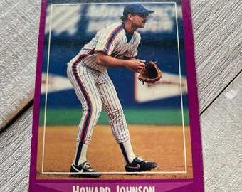 Howard Johnson Mets Baseball Cards Vintage Sports Etsy