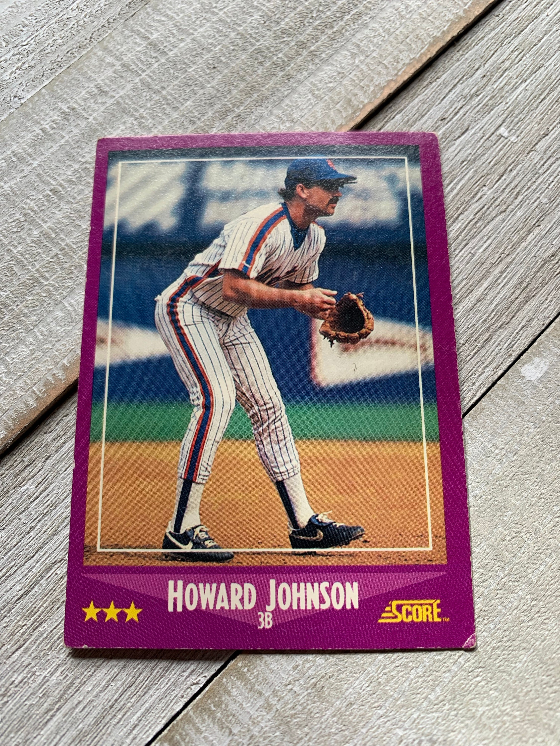 Howard Johnson Baseball Card Mets Score Sports Collectibles