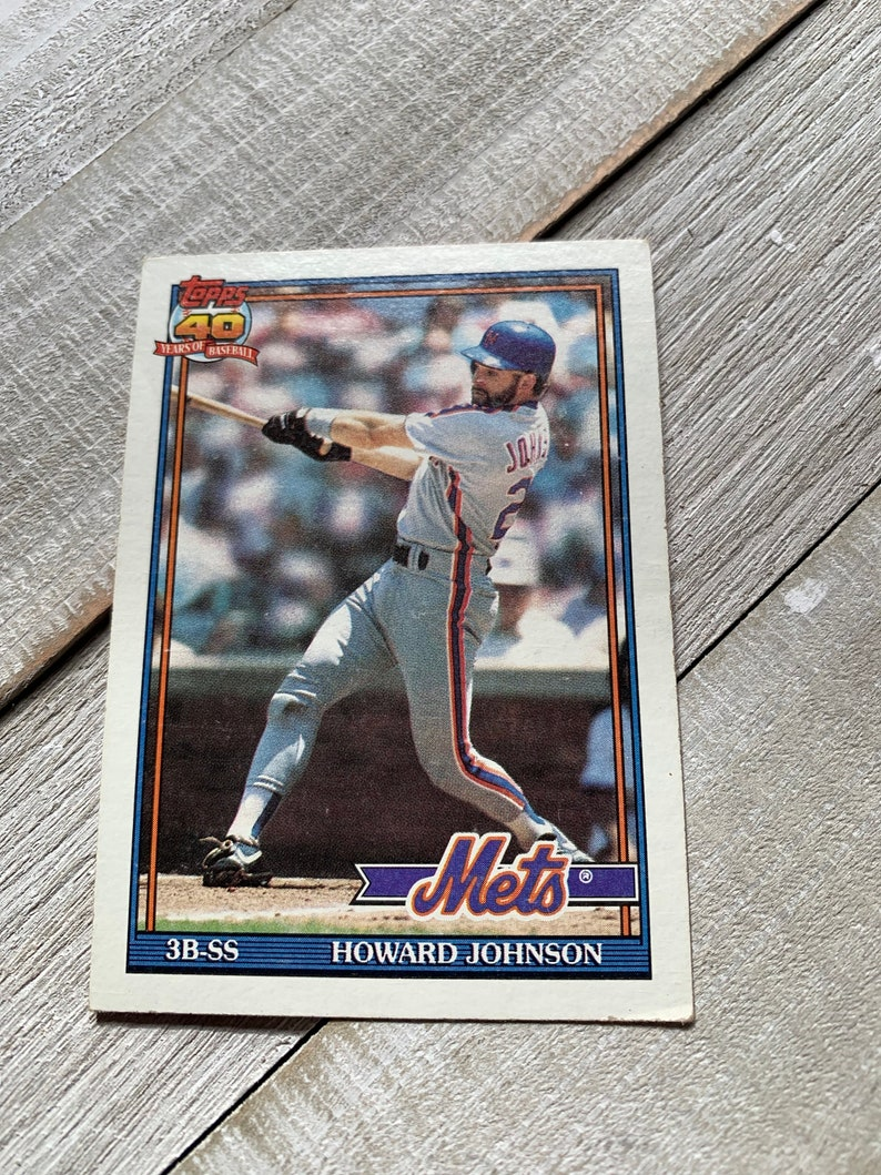 Howard Johnson Mlb Mets Baseball Card Topps Sports Collectibles