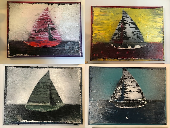 C-2-5 (Boats): 12 X 9 Inches, Painting