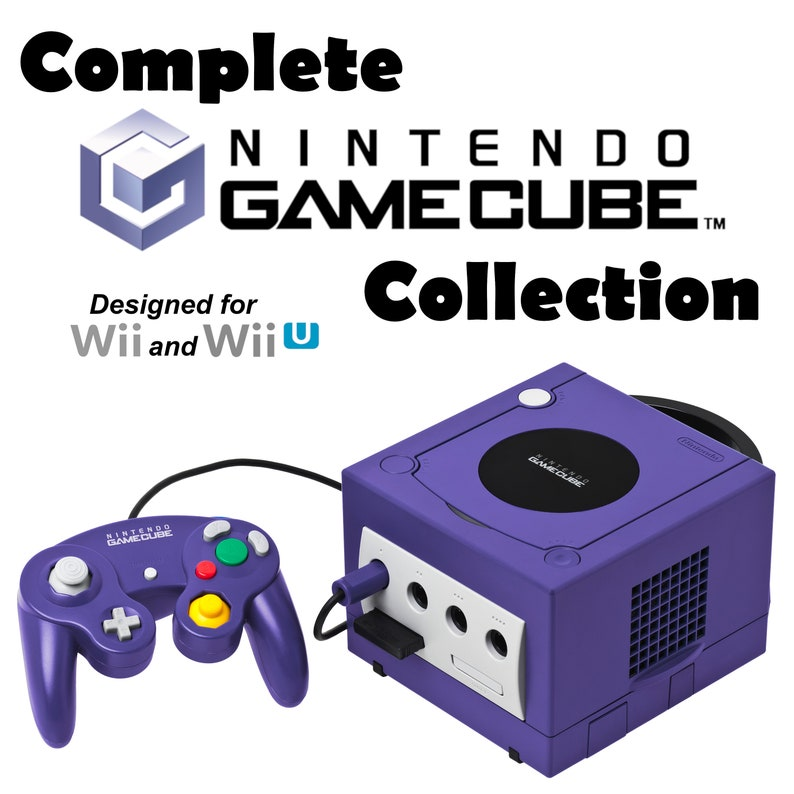 Complete Nintendo GameCube Collection - 1 TB Hard Drive or 32GB SD Card  designed for Wii and Wii U