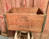 Vintage Canada Dry Vintage Soda Crate Canada Dry Soda Crate Wooden Soda Pop Crate Vintage Farmhouse Storage Crate Wood Green - Red Logo