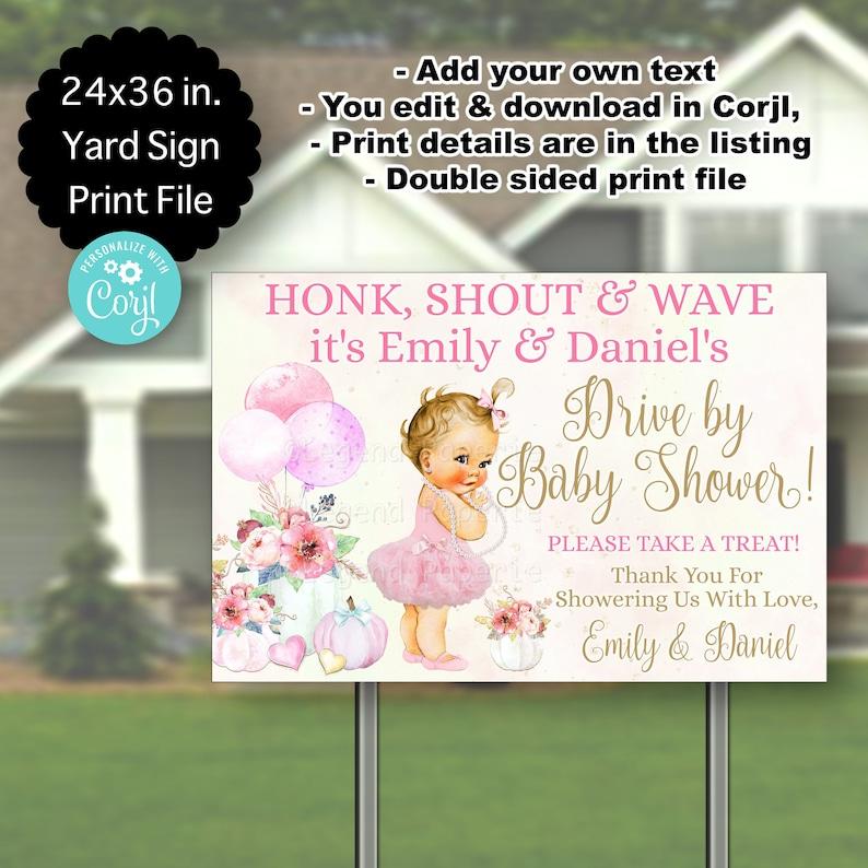 Girl Baby Shower Yard Signs,Little Pumpkin Baby Shower,Drive By Baby Shower Yard Signs,Baby Shower Yard Signs,Little Pumpkin,Blonde,PG5