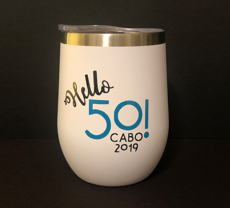 Personalized Custom Designed One-of-A-Kind Insulated Wine Tumblers with Lid 2-Sided Design