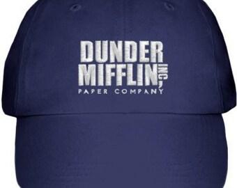 Navy Blue Embroidered Dunder Mifflin Hat 75274e9a67e