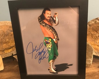 7499d233539bea Autographed WWE wrestler Jake The Snake Roberts Photo Framed with COA