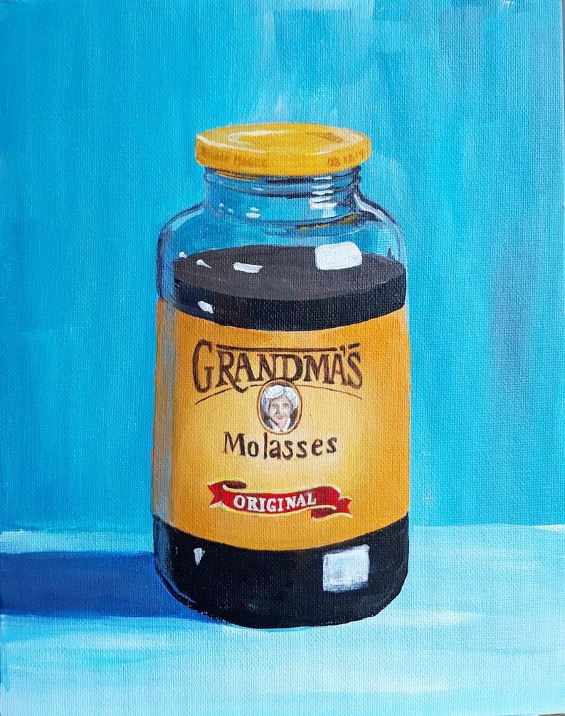 Giclee Food Art Art Prints Gift For Her Molasses 8x10 -Kitchen Decor