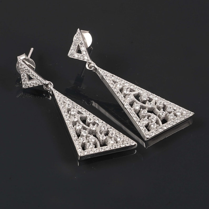 925 Solid Sterling Silver Studs Earrings Handmade Jewelry Earring For Gift