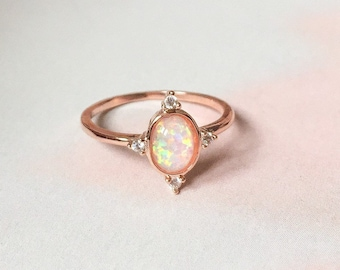 187edee19e0e3 Opal ring | Etsy