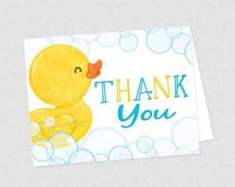 Baby Gift Thank You Cards 20 Cards w//Envelopes Cute Yellow Duckie
