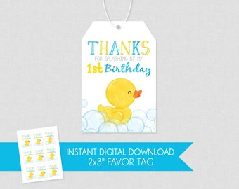 Rubber Ducky Shower Baby Shower Nail Polish Tag,Favor Tags Ducky Baby Shower