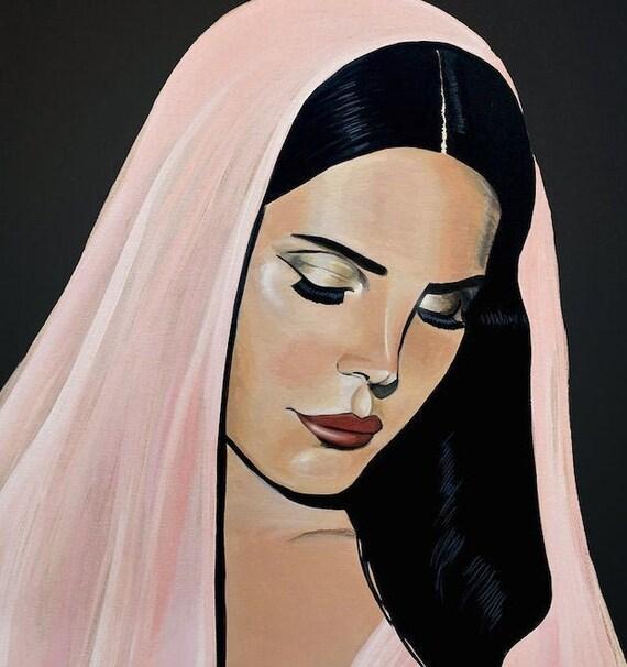 Lana Del Rey Limited Edition Poster Print Of Original Artwork Etsy