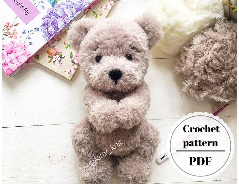 Crochet PATTERN teddy bear in English. Tutorial crochet plush image 0
