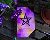 Grimoire with Pentagram - 400 pages, A5 - vegan materials, cork and recycled paper