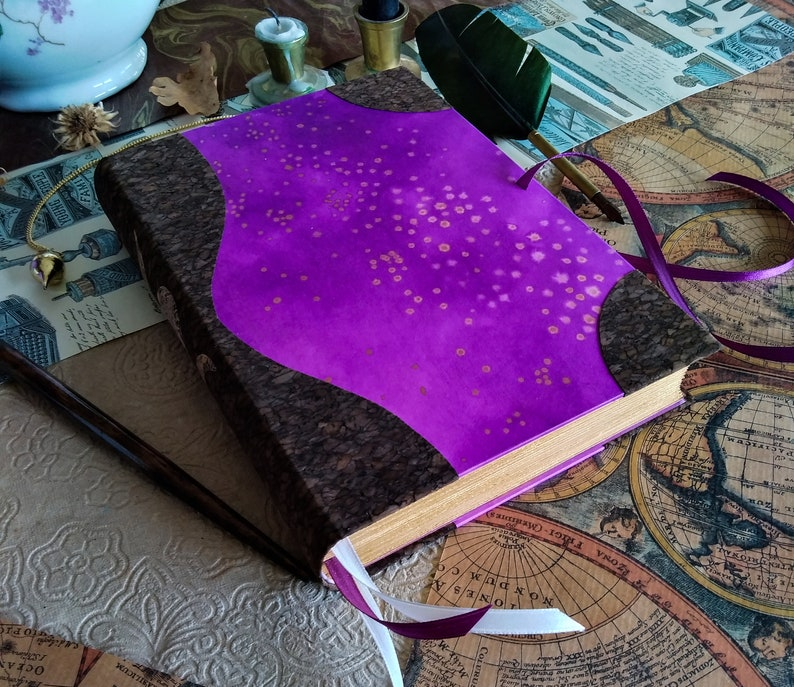 Night Sky Grimoire  one-of-a-kind journal  A5 400 pages image 0