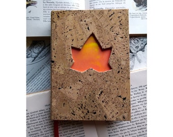 Cork notebook with ivy shape - A6, 200 pages