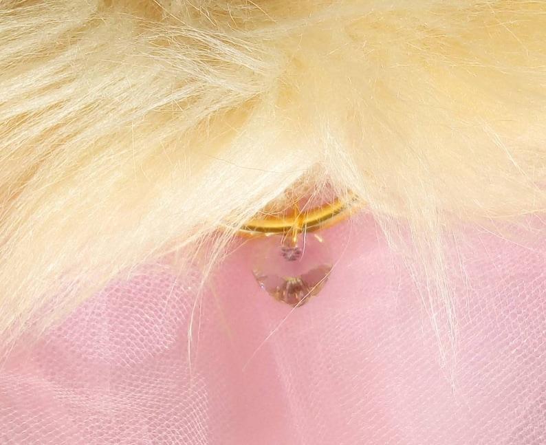 beige ears and collar Heart Crystal ears and collar