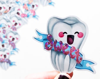 Sweet Tooth Vinyl Sticker Laptop Label Candy Sweets Sugartooth bopo Scratchproof laptop label
