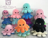 Reversible Octopus Plush, 2021 Mothers Day, Moodie Plush, Stay Away, Safe To Approach soft Octopus-Show your mood without saying a word