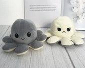 Mother 39 s Day, Reversible Octopus Plush, 2021 Moodie Plush, Stay Away, Safe To Approach soft Octopus-Show your mood without saying a word
