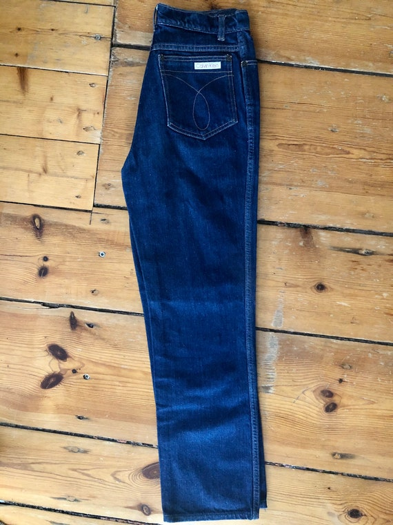 Original vintage blue jeans by Calvin Klein 70s - image 4