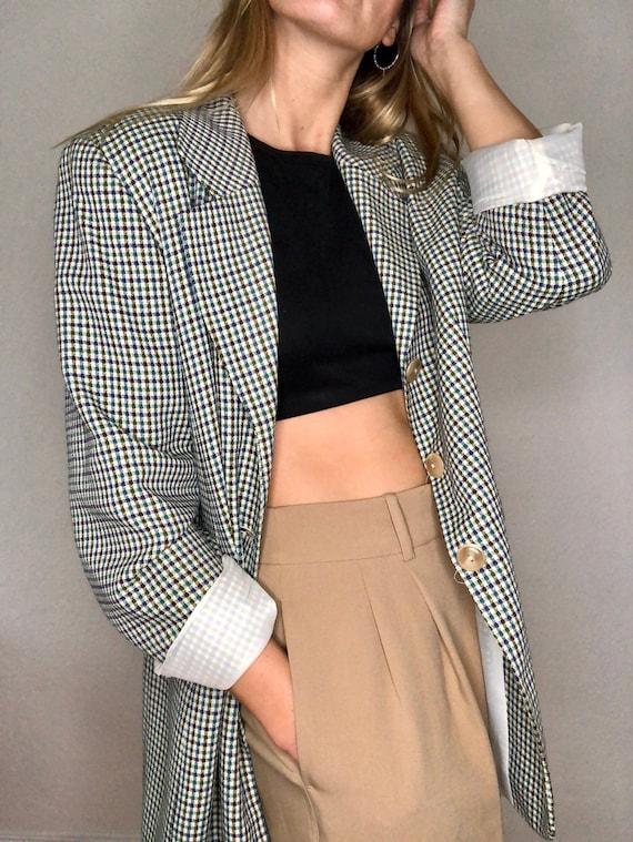 Very nice vintage blazer plaid MOD Style 60s 70s